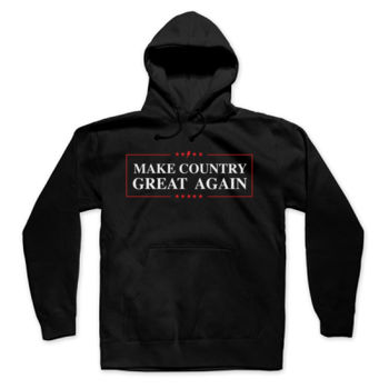MAKE COUNTRY GREAT AGAIN - Pullover Hoodie - Black Thumbnail