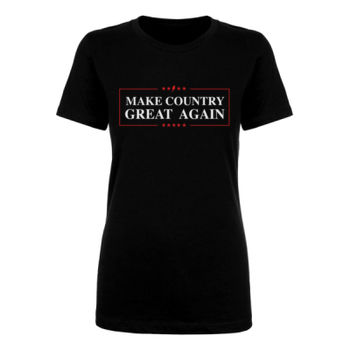 MAKE COUNTRY GREAT AGAIN - Women's Short Sleeve Crew Neck T-shirt - Black Thumbnail