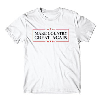 MAKE COUNTRY GREAT AGAIN - Short Sleeve T-shirt - White Thumbnail