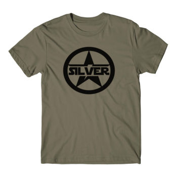 SILVER STAR - Short Sleeve T-shirt - Military Green Thumbnail