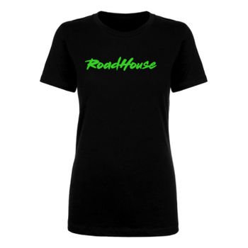ROADHOUSE - Women's Short Sleeve T-shirt - Black with Green Thumbnail