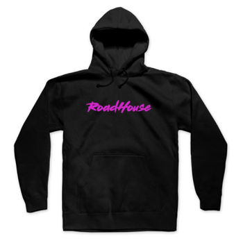 ROADHOUSE - Pullover Hoodie - Black with Magenta Thumbnail