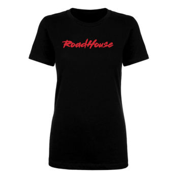 ROADHOUSE - Women's Short Sleeve T-shirt - Black with Red Thumbnail