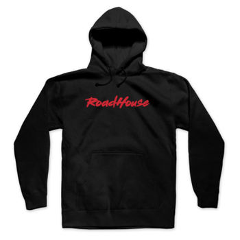 ROADHOUSE - Pullover Hoodie - Black with Red Thumbnail