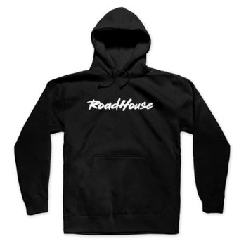 ROADHOUSE - Pullover Hoodie - Black with White Thumbnail