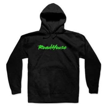 ROADHOUSE - Pullover Hoodie - Black with Green Thumbnail